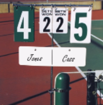 tennis court score tracker