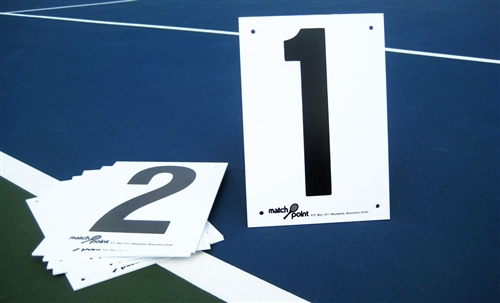 sport tennis court numbers